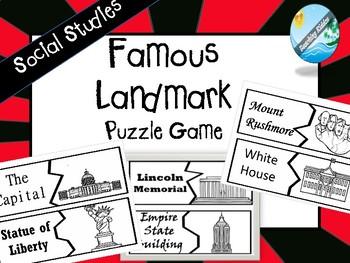 U.S. Landmarks Puzzle Game