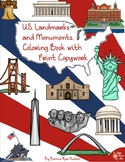 U.S. Landmarks and Monuments Coloring Book with Print Copywork