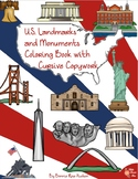 U.S. Landmarks and Monuments Coloring Book with Cursive Copywork
