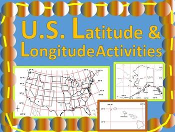 U.S. Latitude and Longitude Activities
