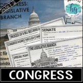 U.S. Legislative Branch (Congress) PowerPoint and Guided Notes