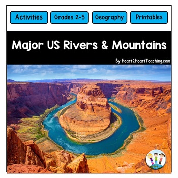 U.S. Major Rivers & Mountains - Major Rivers of the United States Activity Pack