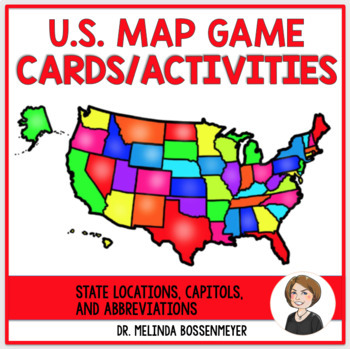 U.S. Map Game Cards and Activities