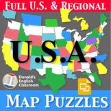 U.S. Map Puzzles | Regions, States, Capitals and Abbreviat