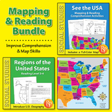 U.S. Map & Reading Comprehension {Bundle}