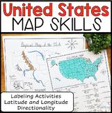 United States Map Skills Task Activities