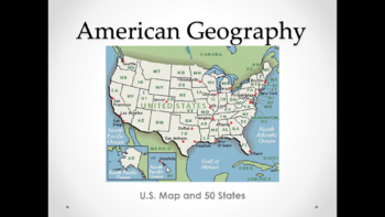 U.S. Map and 50 States (Lesson Plan, PowerPoint, Activity, and Quiz)