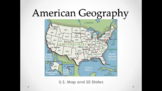 U.S. Map and 50 States (Lesson Plan, PowerPoint, Activity,