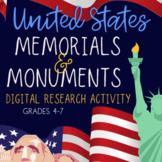 U.S. Memorials & Monuments Research Activity | Google Slides | Grades 4-7