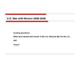 U.S Mexican War