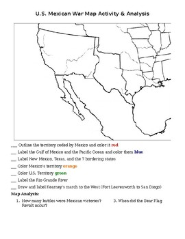 U.S. Mexican War map assignment