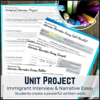 U.S. Mini PBL Unit: Ellis Island Immigration with Interview Project