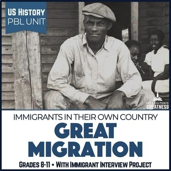 US Mini PBL Unit African American Great Migration with Interview Project