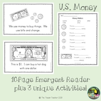 U.S. Money Emergent Reader & Activities