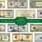 U.S. Money Paper Currency Clip Art - Dollar Bills Clip Art
