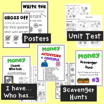 U.S. Money Unit Second Grade