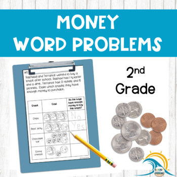 Money Word Problems Practice 2nd Grade