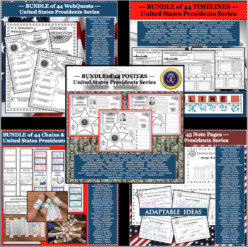 U.S. PRESIDENT MEGA BUNDLE Research Project Biography Activities