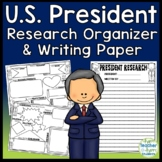 U.S. President Graphic Organizer: Research Organizers with FREE Writing Paper