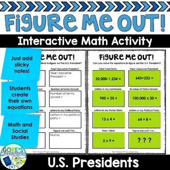 U.S. President Social Studies Activity Figure Me Out