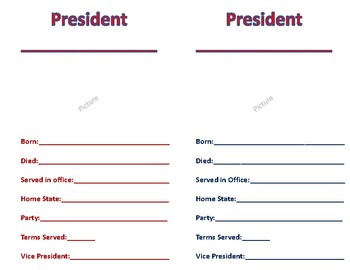 U.S. President Research Booklet