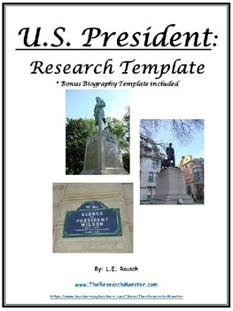 U.S. President and Biography Research Template EDITABLE