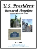 U.S. President and Biography Research Templates