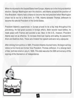 U.S. Presidents: Adams and Wilson