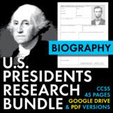 U.S. Presidents Biography Research Organizers, US Presiden
