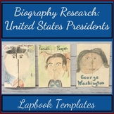 U.S. Presidents: Research Project with Biography Lapbook Templates