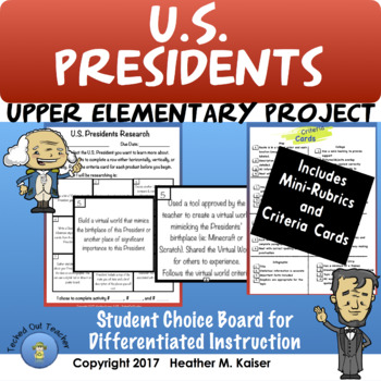 President's Day Choice Board