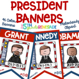U.S. Presidents Color Banners *45 Presidents* Melonheadz Clipart