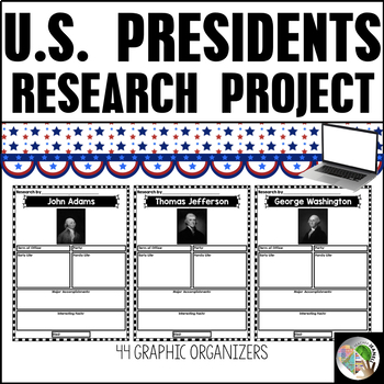 President's Day Graphic Organizers - President's Day Research Project
