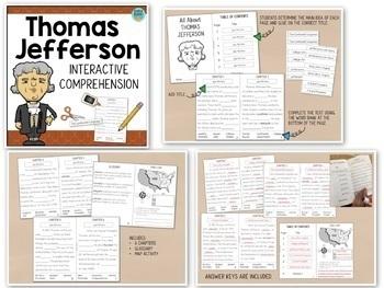U.S. Presidents Interactive Reading BUNDLE Washington Lincoln Jefferson