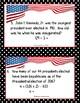 U.S. Presidents - Interdisciplinary History/Math Presidents' Day Activity
