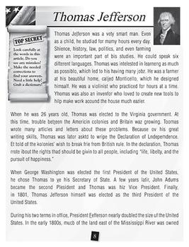 U.S. Presidents: Jefferson and T. Roosevelt