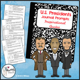 U.S. Presidents Journal Prompts:  Inspirational Quotes