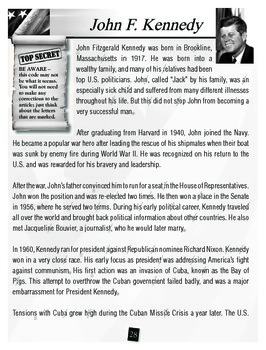 U.S. Presidents: Kennedy and Bush