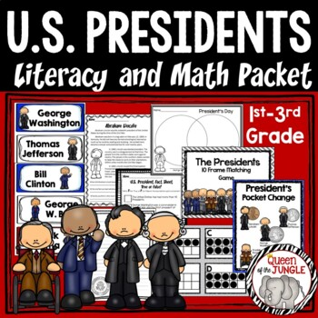 President's Day Literacy and Math Packet