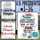 U.S. Presidents Coloring Pages and Word Cloud Activity Was