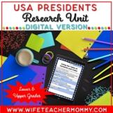 U.S. Presidents Research Unit United States Google Slides