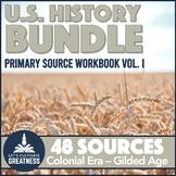 US History Primary Source Analysis Bundle 1600s to 1800s P