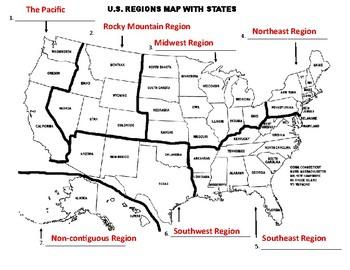 U.S. Regions Map