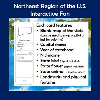 U.S. Regions Northeast Region Interactive Fan