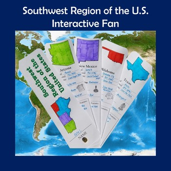 U.S. Regions Southwest Region Interactive Fan