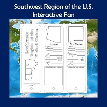 U.S. Regions Southwest Region Interactive Fan