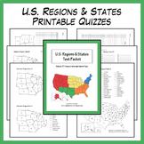U.S. Regions & States Printable Quizzes