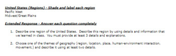 U.S. Regions and States Quiz