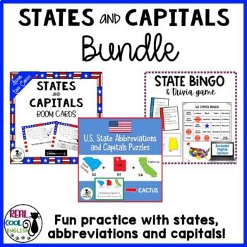 U.S. State Abbreviations and Capitals Puzzles