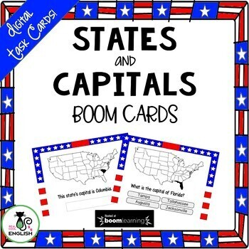 U.S. State Capitals Digital Boom Task Cards